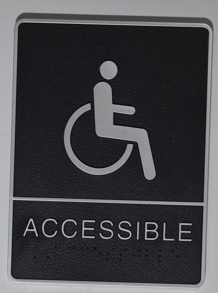 ACCESSIBLE Sign- - BRAILLE PLASTIC ADA  Sign