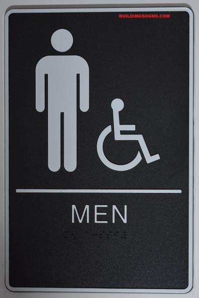 MEN ACCESSIBLE Restroom Sign- - BRAILLE  PLASTIC ADA  Sign