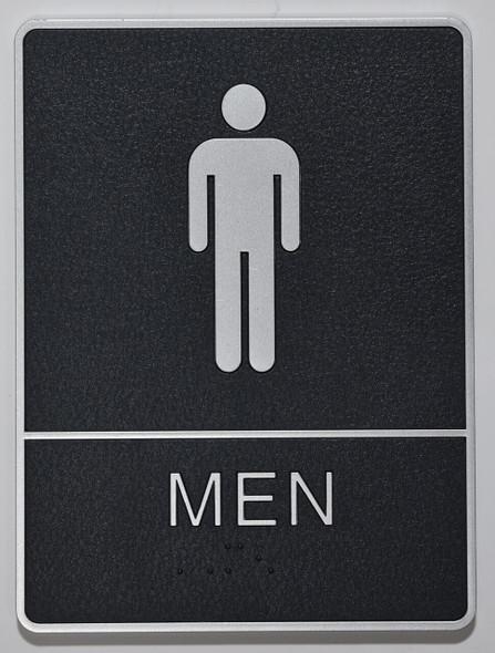 MEN Restroom Sign- - BRAILLE  PLASTIC ADA SIGNS  Sign