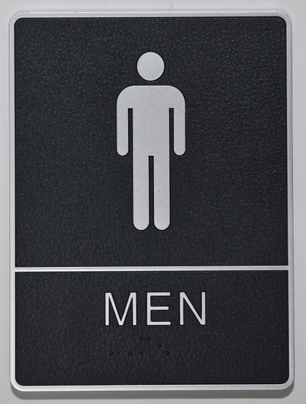 MEN Restroom Sign- - BRAILLE  PLASTIC ADA SIGNS