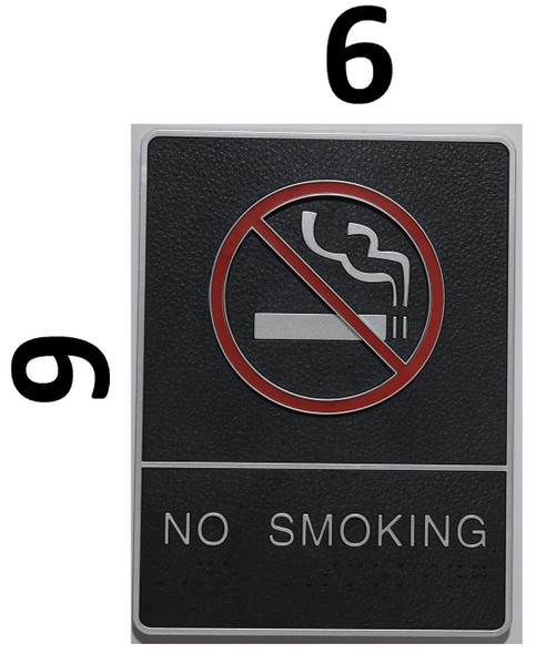 NO SMOKING Sign- - BRAILLE PLASTIC ADA