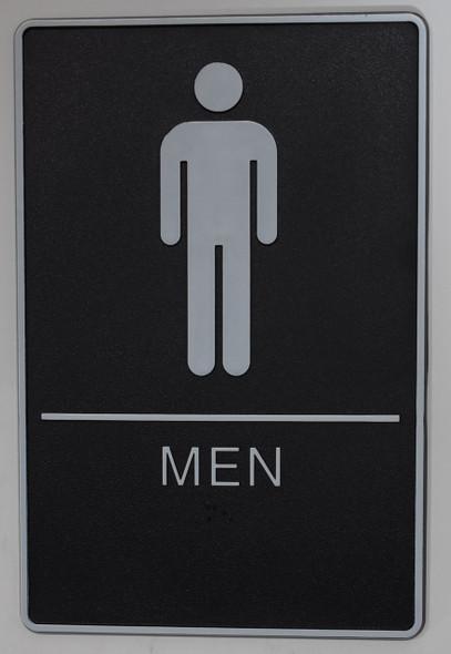 MEN Restroom Sign- - BRAILLE PLASTIC ADA   Signage