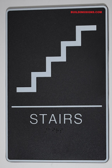 STAIRS Sign- - BRAILLE PLASTIC ADA