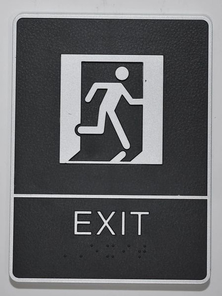EXIT Sign- - BRAILLE PLASTIC ADA    Signage