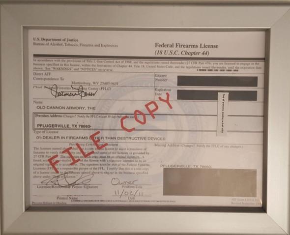 Fire Arm License HPD Frame