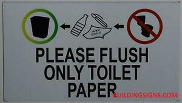 Please Flush Toilet Paper ONLY sinage