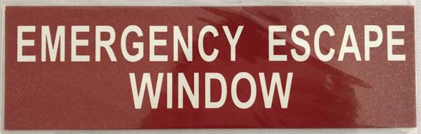 EMERGENCY ESCAPE WINDOW sinage