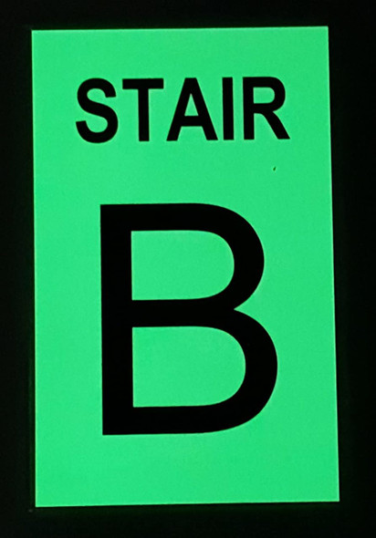 STAIR B  GLOW IN THE DARK