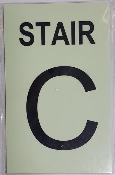 STAIR C  Signage GLOW IN THE DARK