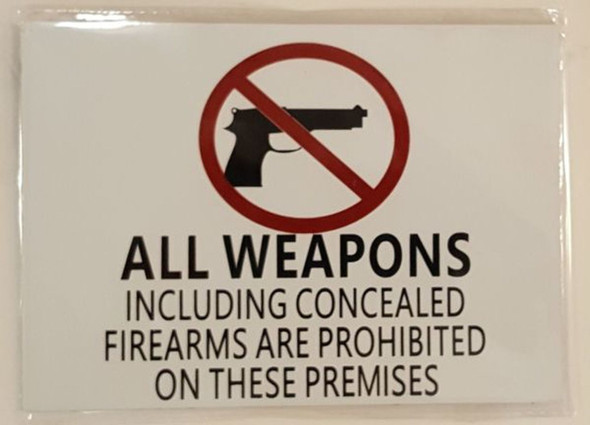 Concealed Carry  Signage -With two sided tape