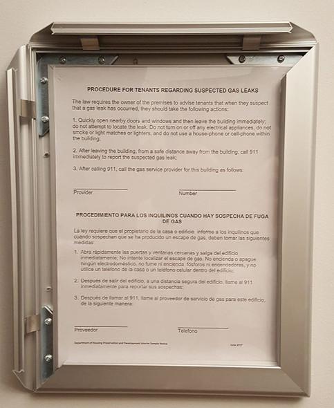 HPD Gas Notice Frame-Notice