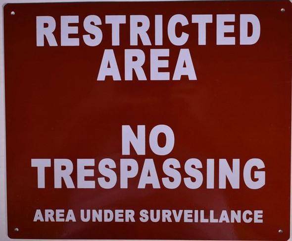 Restricted Area No Trespassing Area Under Surveillance