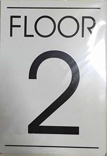 FLOOR NUMBER  Signage  - 2ND FLOOR  Signage