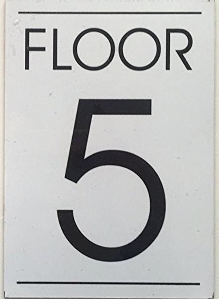 FLOOR NUMBER  Signage  - 5TH FLOOR  Signage