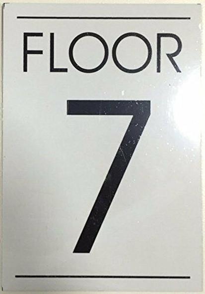 FLOOR NUMBER  Signage  - 7TH FLOOR  Signage