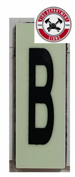 PHOTOLUMINESCENT DOOR NUMBER B SIGN HEAVY DUTY  Sign