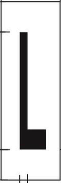 PHOTOLUMINESCENT DOOR NUMBER L SIGN HEAVY DUTY  Signage