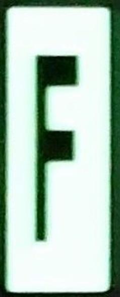PHOTOLUMINESCENT DOOR NUMBER F SIGN HEAVY DUTY  Signage