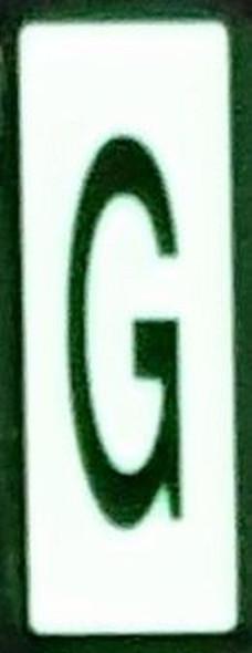 PHOTOLUMINESCENT DOOR NUMBER G SIGN HEAVY DUTY  Signage