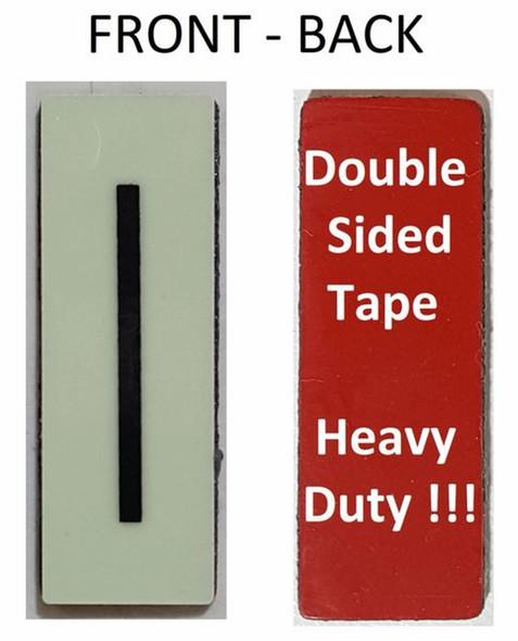 PHOTOLUMINESCENT DOOR NUMBER I SIGN HEAVY DUTY  Signage