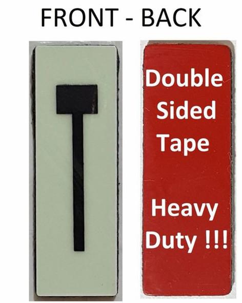 PHOTOLUMINESCENT DOOR NUMBER T SIGN HEAVY DUTY  Signage