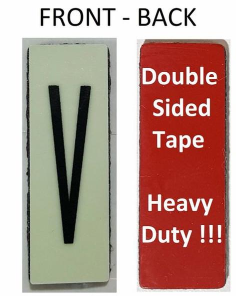 PHOTOLUMINESCENT DOOR NUMBER V SIGN HEAVY DUTY  Signage