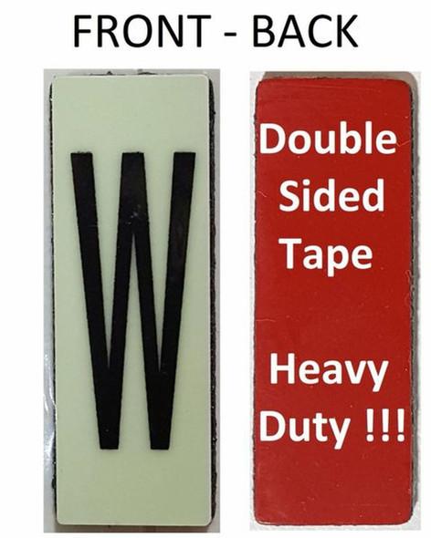 PHOTOLUMINESCENT DOOR NUMBER W SIGN HEAVY DUTY  Signage