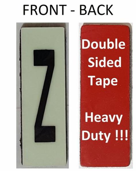 PHOTOLUMINESCENT DOOR NUMBER Z SIGN HEAVY DUTY  Signage