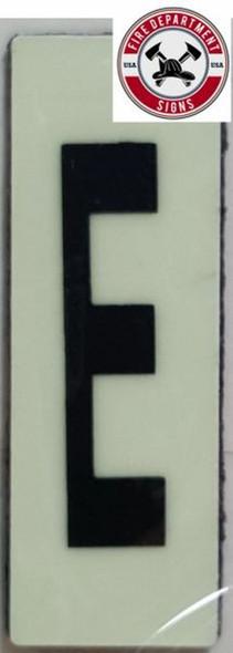 PHOTOLUMINESCENT DOOR NUMBER E SIGN HEAVY DUTY  Sign