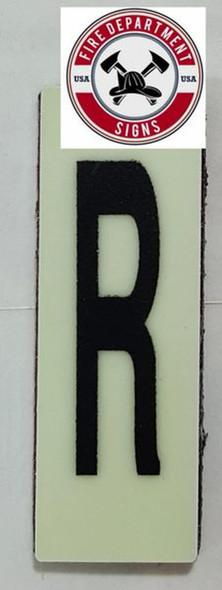 PHOTOLUMINESCENT DOOR NUMBER R SIGN HEAVY DUTY  Sign