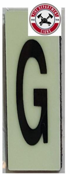 PHOTOLUMINESCENT DOOR NUMBER G SIGN HEAVY DUTY  Sign