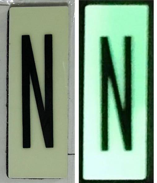 PHOTOLUMINESCENT DOOR NUMBER N SIGN HEAVY DUTY  Sign