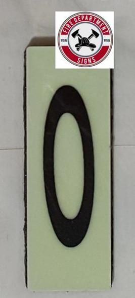 PHOTOLUMINESCENT DOOR NUMBER O SIGN HEAVY DUTY  Sign