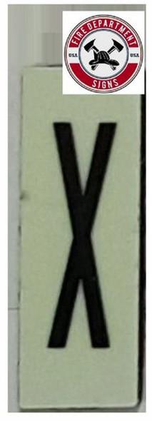 PHOTOLUMINESCENT DOOR NUMBER X SIGN HEAVY DUTY  Sign