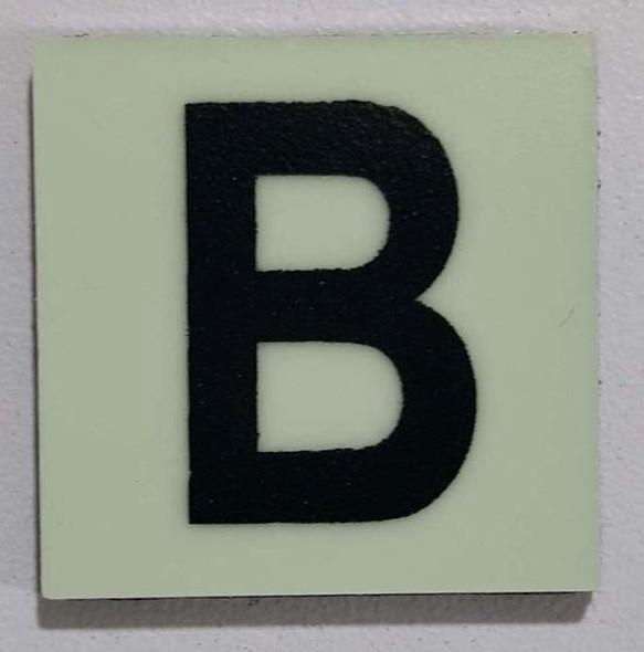 Glow in dark Number B sign The Libert  Sign