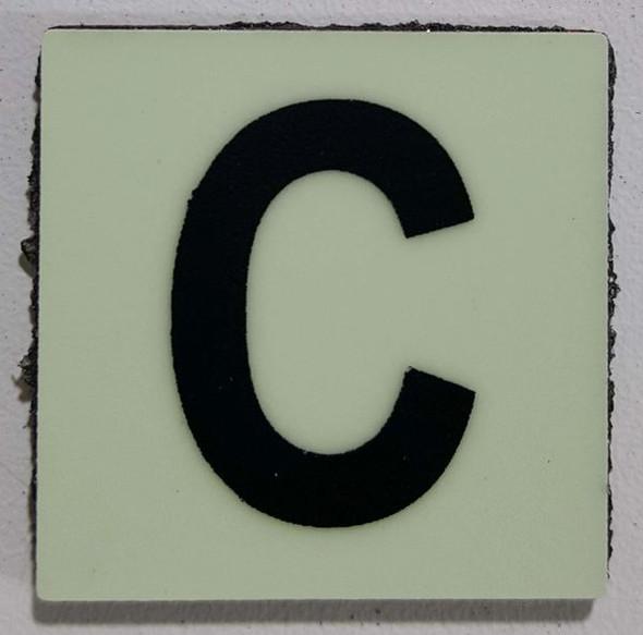 Glow in dark Number C sign The Libert  Sign
