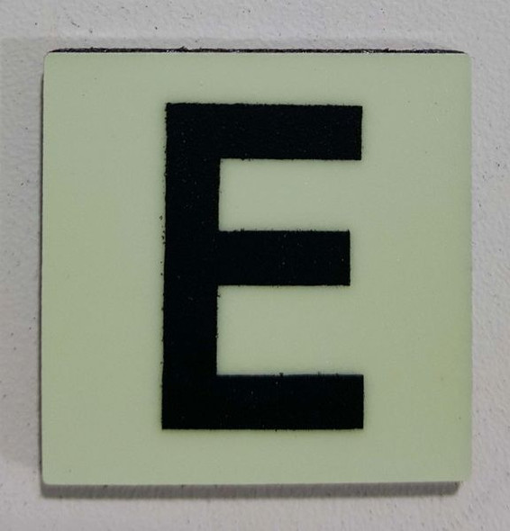 Glow in dark Number E sign The Libert  Sign