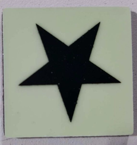 Glow in dark Star sign The Liberty Line Al  Sign