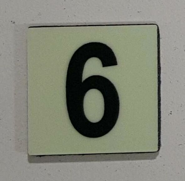 Glow in dark Number 6 sign The Libert  Sign