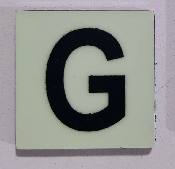 Glow in dark Number G sign The Libert  Sign