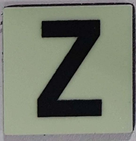 Glow in dark Number Z sign The Libert  Sign