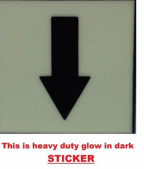 PHOTOLUMINESCENT DOWN ARROW SIGN The Liberty Line   Sign