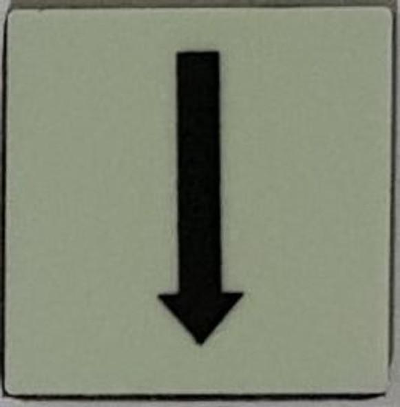 PHOTOLUMINESCENT UP ARROW SIGN The Liberty Line   Sign