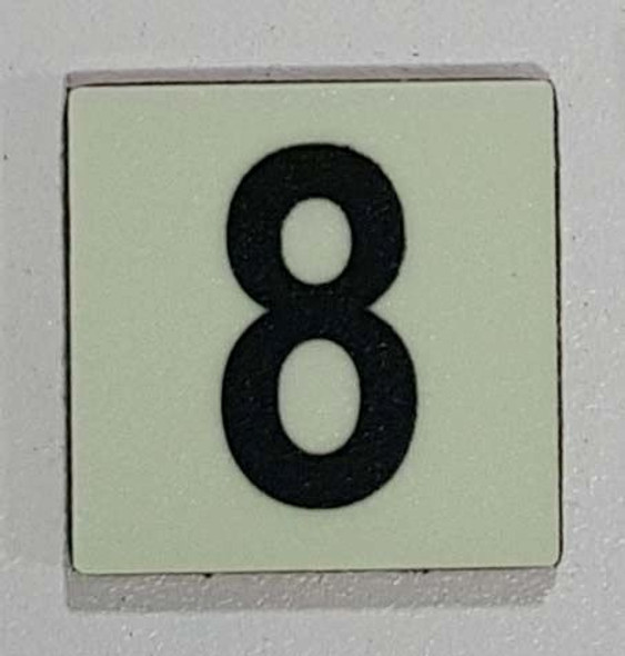 Glow in dark Number 8 sign The Libert  Sign