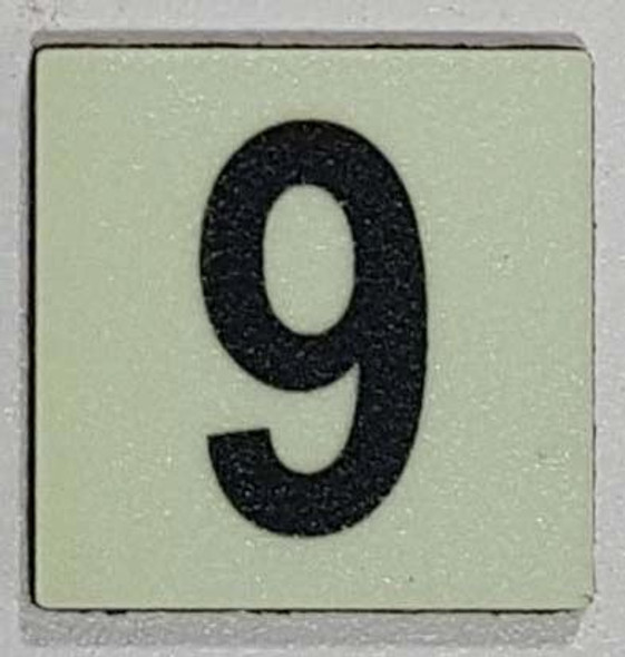 Glow in dark Number 9 sign The Libert  Sign