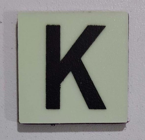 Glow in dark Number K sign The Libert  Sign