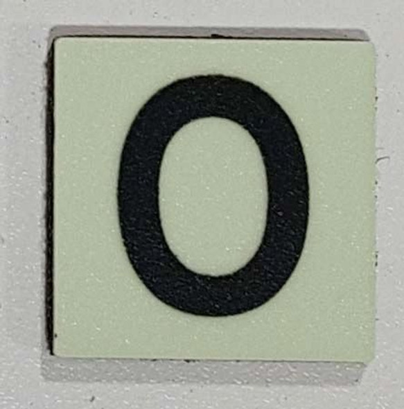 Glow in dark Number O sign The Libert  Sign
