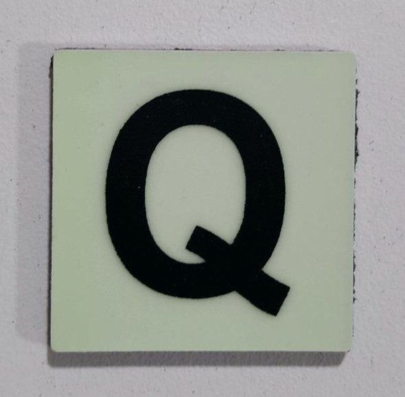 Glow in dark Number Q sign The Libert  Sign