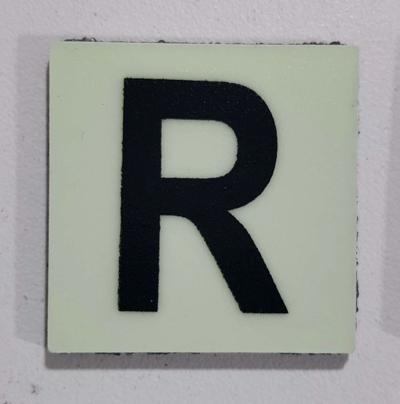 Glow in dark Number R sign The Libert  Sign