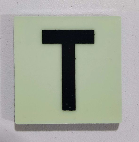 Glow in dark Number T sign The Libert  Sign